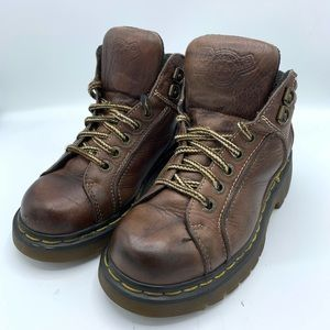 Dr. Martens Vintage Brown Leather High Lace Boots